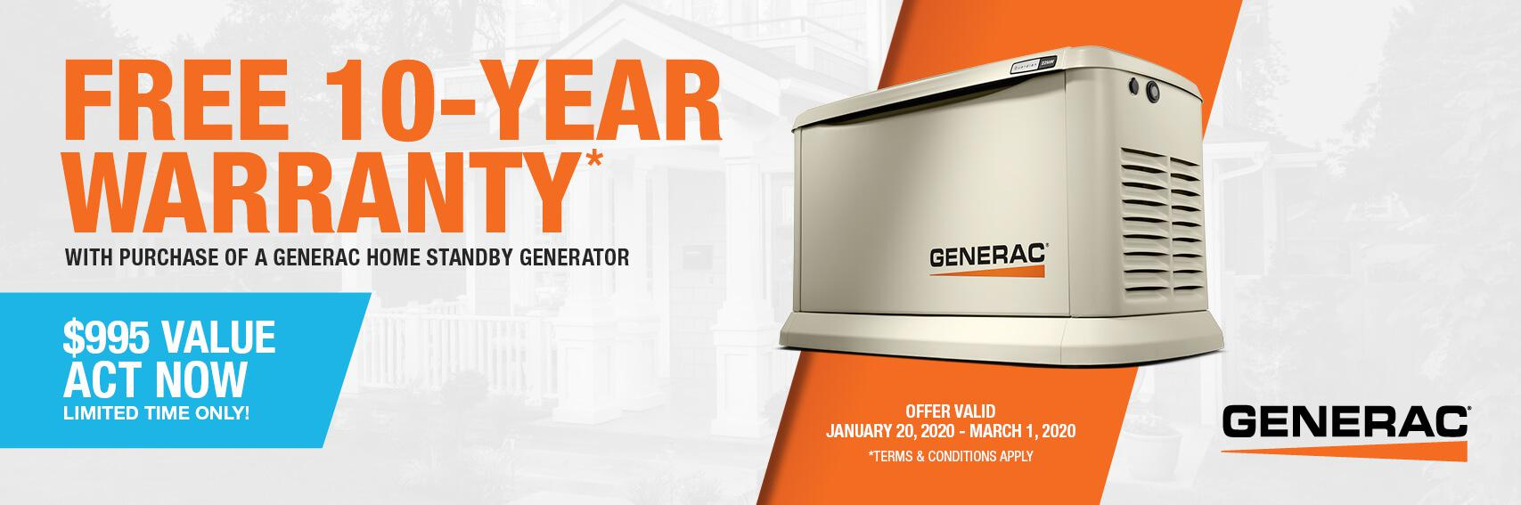 Homestandby Generator Deal | Warranty Offer | Generac Dealer | Sherwood, AR